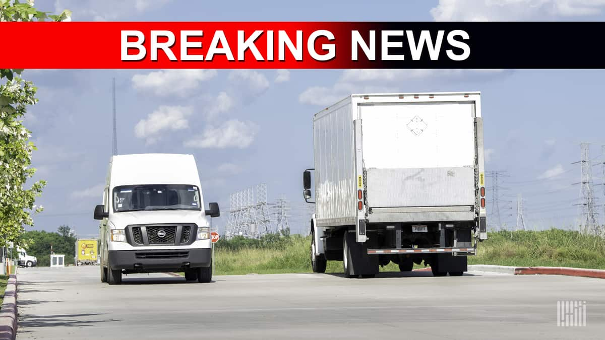 A breaking news photo illustration accompanying a story about an outage hitting the USPS online tracking system.