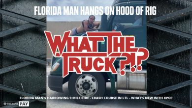 Photo of Florida man hangs on hood of rig – WHAT THE TRUCK?!? (with video)