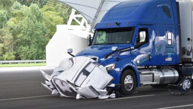 Photo of IIHS: Truck safety equipment could cut 40% of rear-end collisions