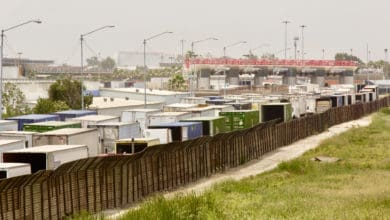 Photo of Cargo trucks waiting up to 8 hours at California border crossing