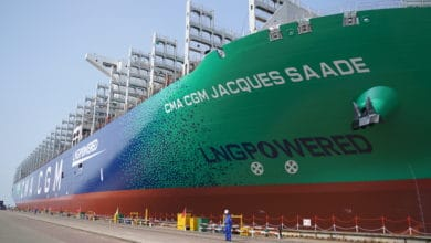 Photo of Largest LNG-powered container ship making maiden voyage