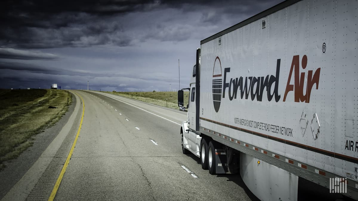 Forward Air truck on highway