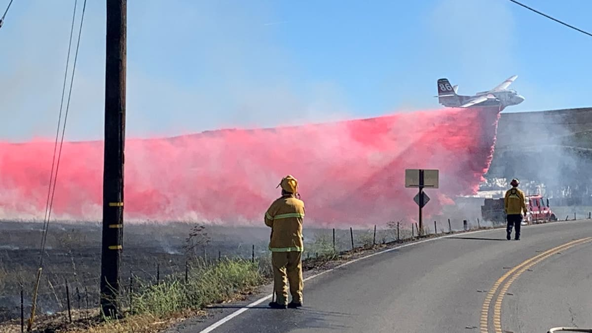 Crews try to contain the Glass Fire in northern California.