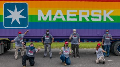 Photo of Maersk's rainbow containers deliver post-hurricane aid