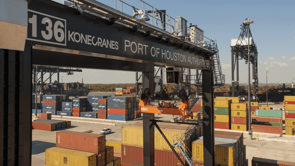 Container cargo at Port of Houston.