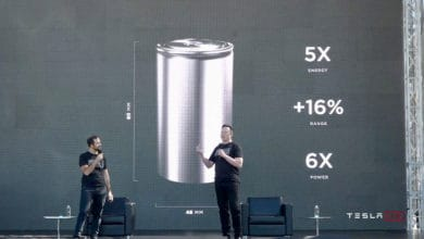 Photo of Tesla unveils battery cells aimed at raising electric cars' range and power