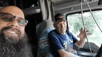 Trucker G. takes Jim Garhart on his final ride