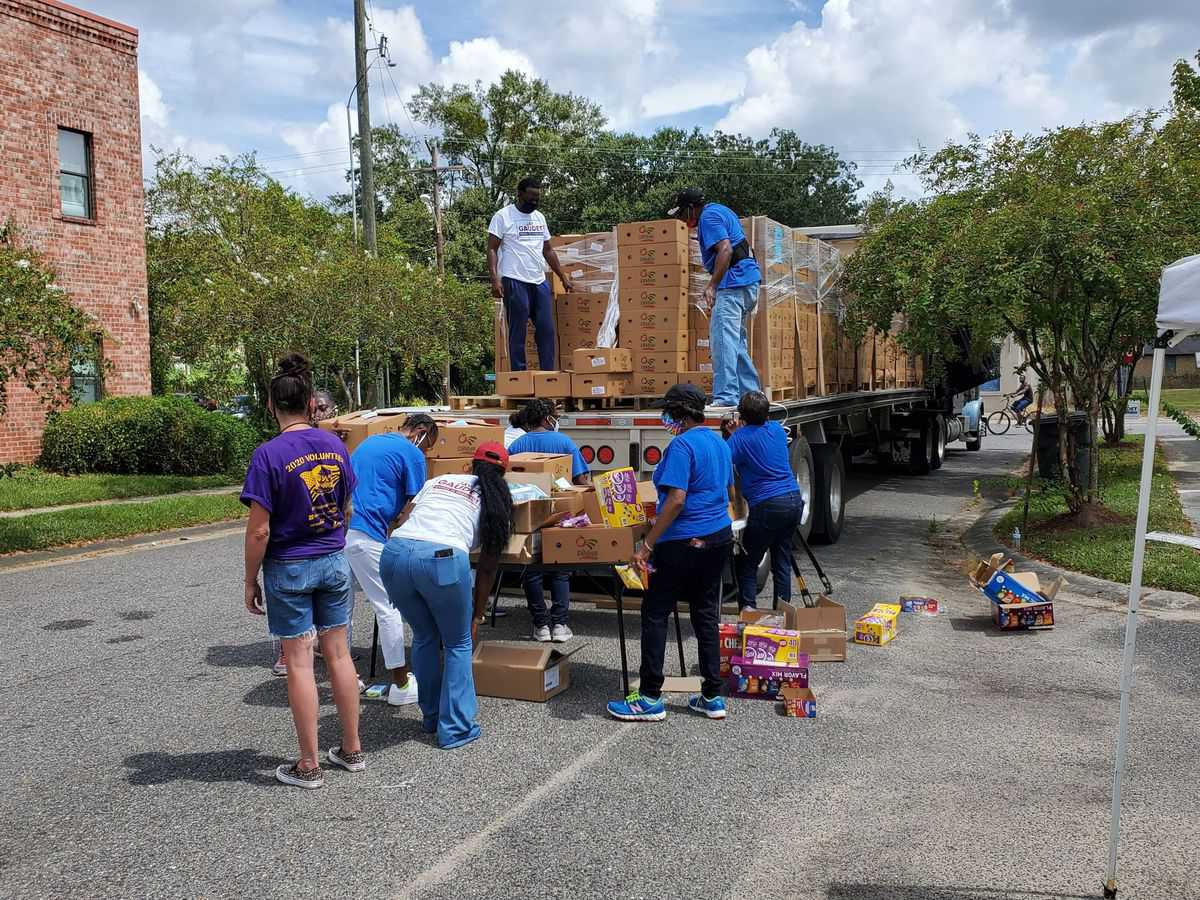 Truckers hauling natural disaster relief supplies