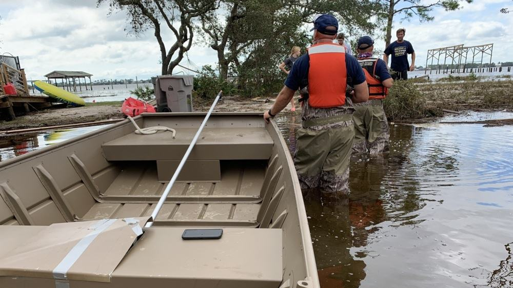 Coast Guard crew in western Florida after Hurricane Sally, Sep. 17, 2020.