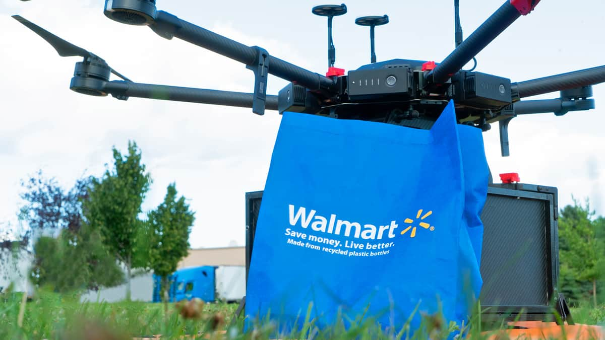 Walmart pilots drones to fly items to consumers' doorsteps (Photo: Walmart)