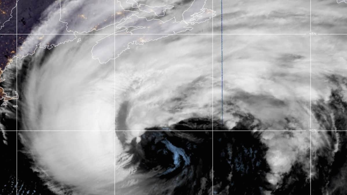 A satellite image of Hurricane Teddy as it approaches Canada. Companies in the supply chain are preparing for the storm.