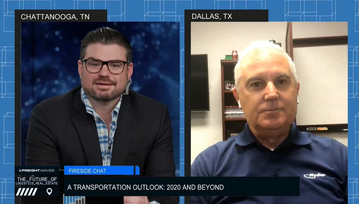 FreightWaves' JT Engstrom chats transportation outlook with Ryder's Dave Belter