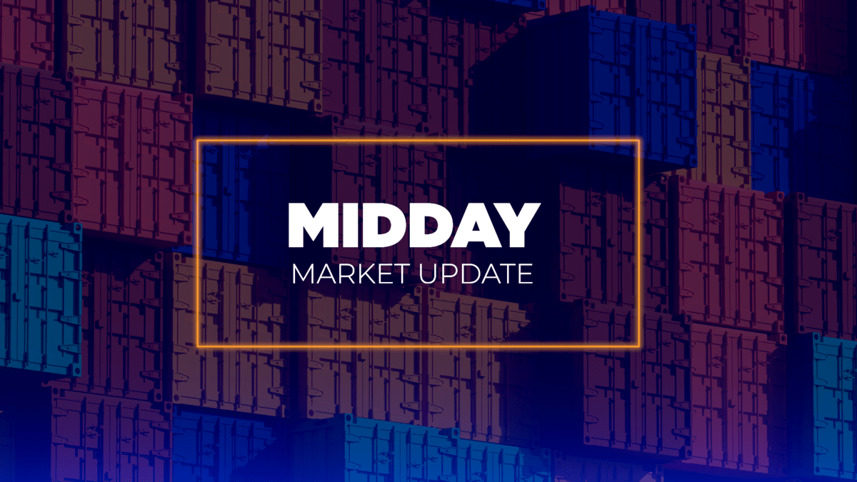 Benchmarks, analysis, monitoring and forecasts —  Midday Market Update