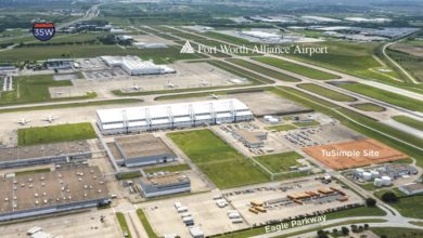 Photo of TuSimple teams with Hillwood on  Texas logistics hub