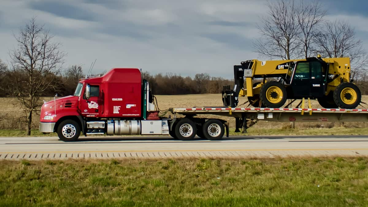 A tractor-trailer E.W. Wylie, a subsidiary Daseke, which was targeted in a cyberattack. A ransomware group claimed responsibility.