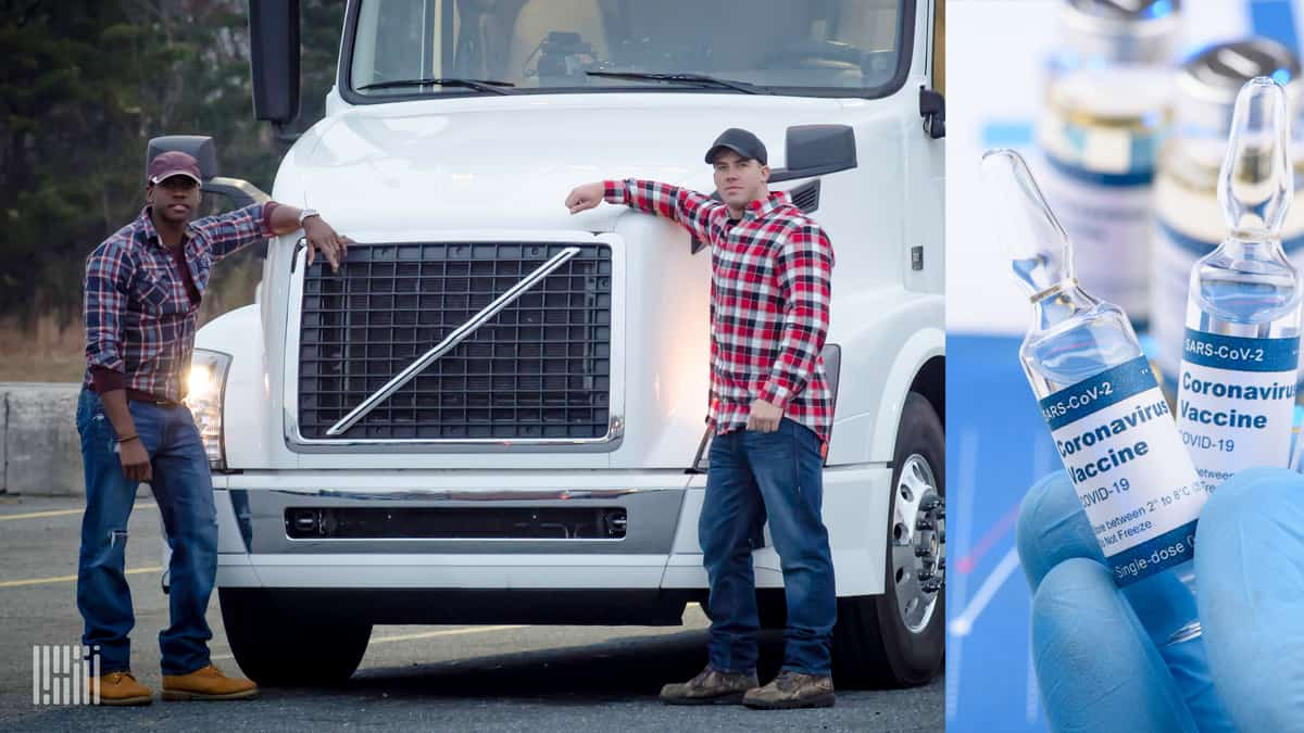 Truck drivers could be among first to get covid vaccine