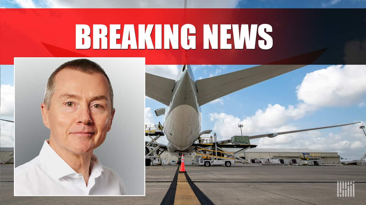 Willie Wash, former British Airways CEO on right, image of an airplane tail from behind on right of split image. Breaking News: Walsh to take over IATA