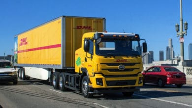 Photo of DHL piloting use of heavy-duty electric trucks in US