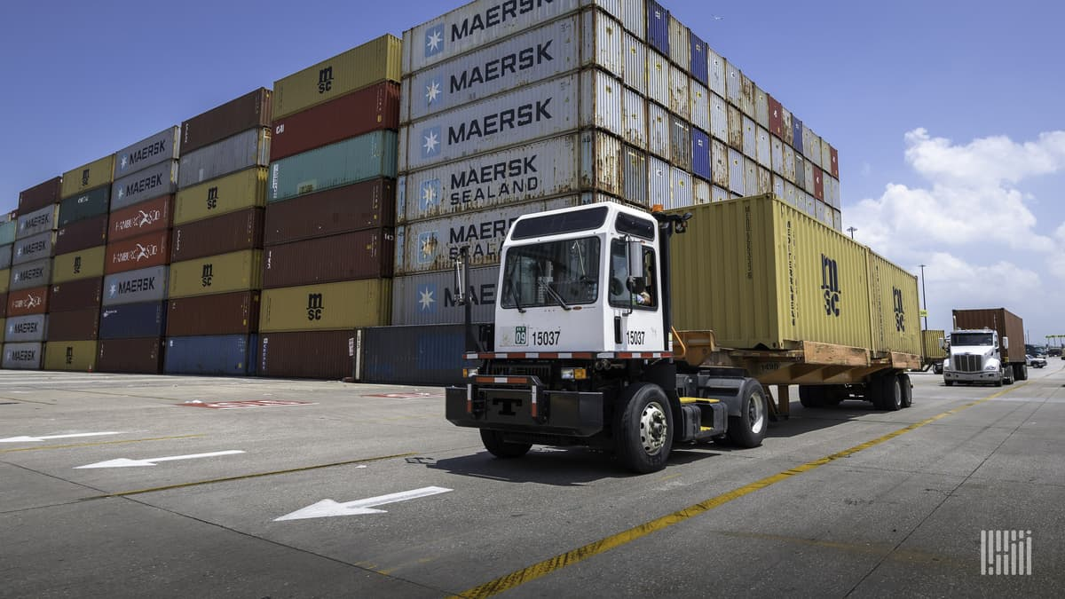 Containers moved at port