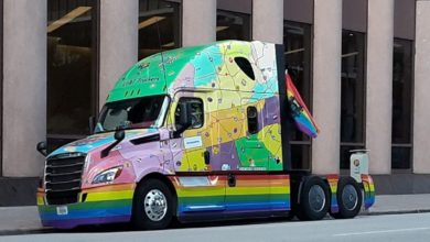 Photo of Hirschbach, LGBT Truckers rolling out new 'Rainbow Rider' Pride-themed truck