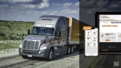 Photo of Schneider's FreightPower app allows carriers to instantly book loads