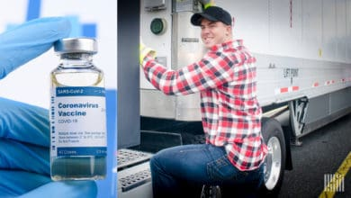 Photo of Truck drivers on list for potential COVID-19 vaccine priority
