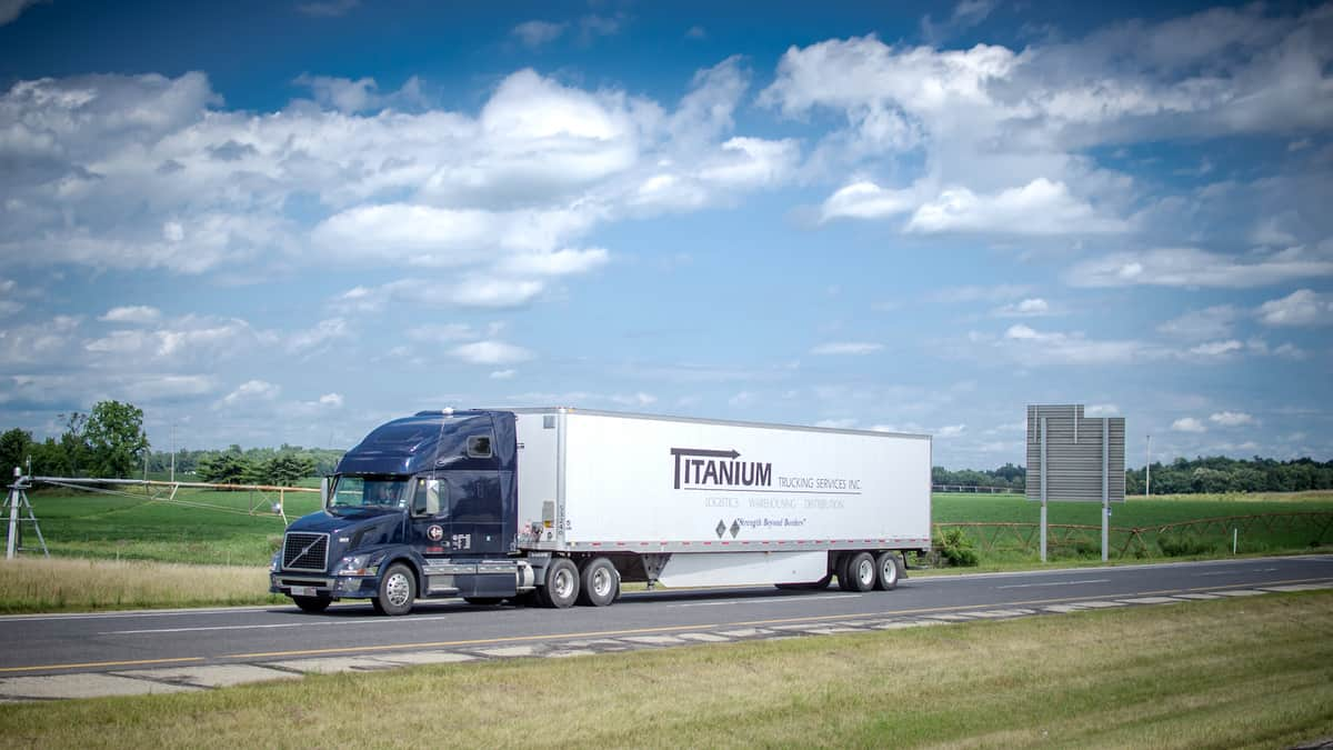 A tractor-trailer of Titanium Transportation Group.