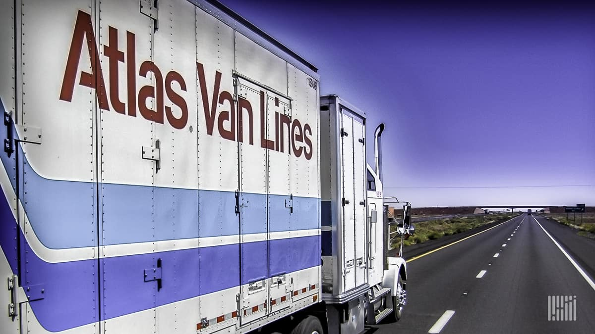 Whether it is hauling household possessions or a corporate furnishings, Atlas Van Lines will protect the load.  (Photo: Jim Allen/FreightWaves)