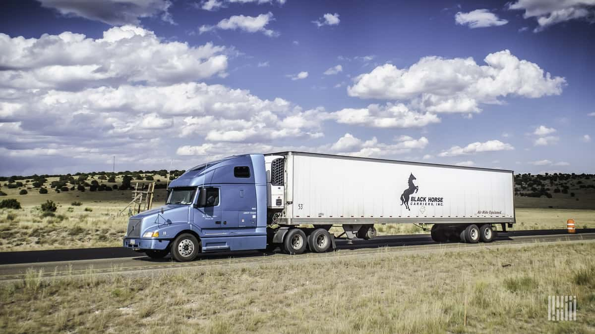 The Black Horse Carriers logo is a beauty. (Photo: Jim Allen/FreightWaves)