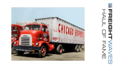 A vintage Chicago Express tractor-trailer.