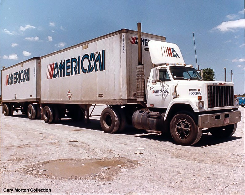 An American Carriers tractor and twin-trailers. (Photo: Gary Morton Collection)