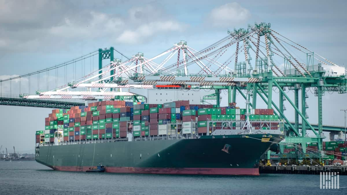 trans-Pacific container port