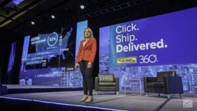 J.B. Hunt Chief Commercial Officer Shelley Simpson presenting at FreightWaves Live Chicago 2019