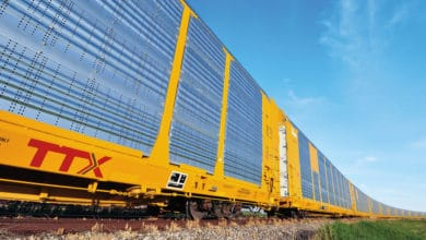 TTX railcars are part of this train. (Photo: TTX Company)