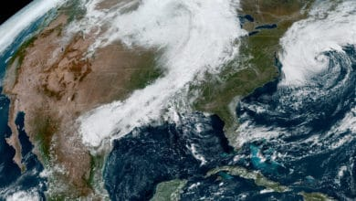 Satellite image of continental U.S.