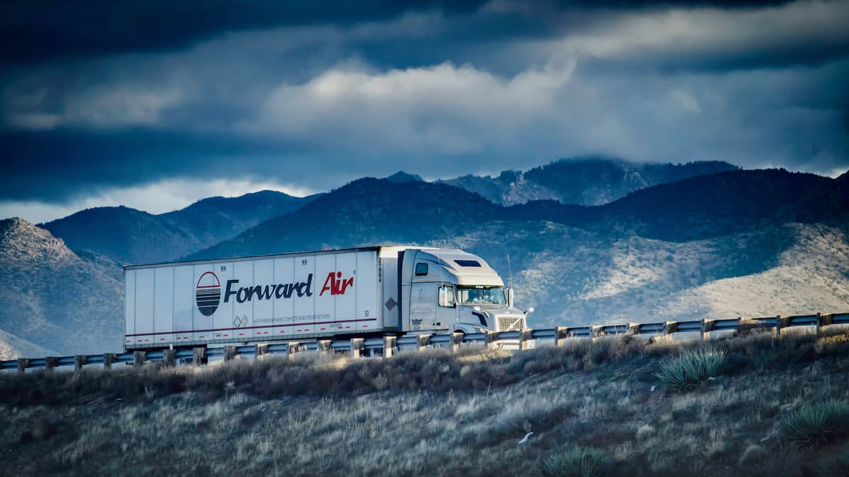 A tractor-trailer from Forward Air.