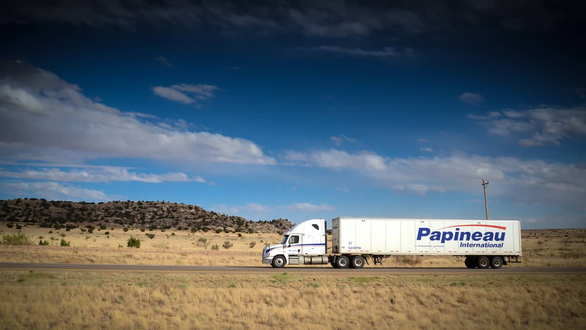A tractor-trailer of a TFI International carrier. One of its parcel and courier subsidiaries was targeted in a cyberattack.