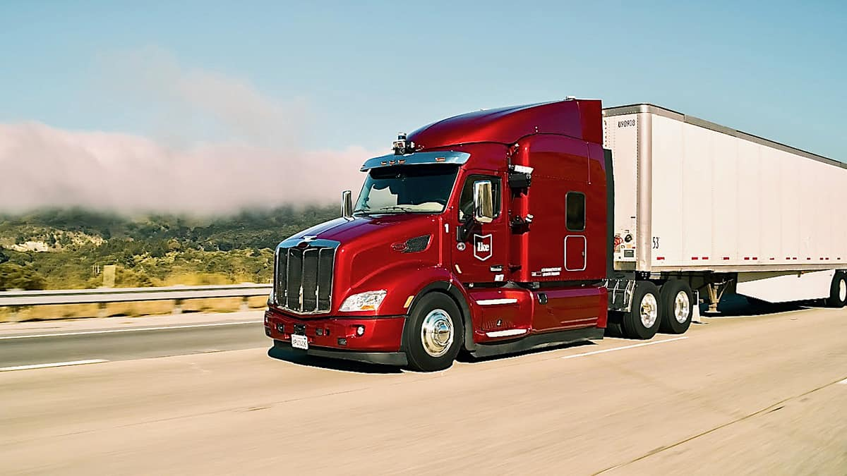 A tractor-trailer powered by autonomous trucking startup Ike.
