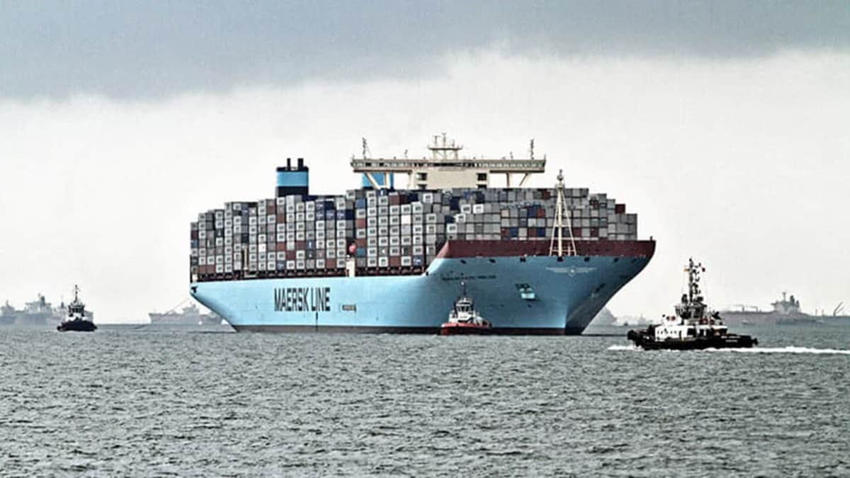 The MÆRSK MC-KINNEY MØLLER, the largest container ship in the world when it was built. (Photo: A.P. Møller - Mærsk)