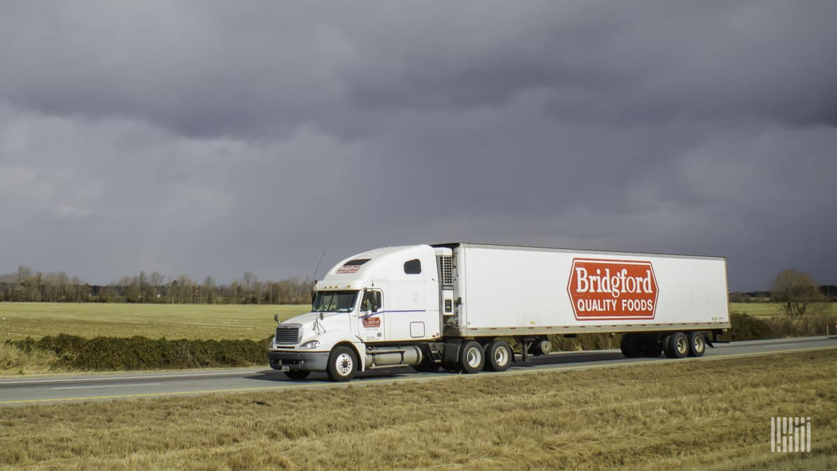 A Bridgford Quality Foods on the way to make a delivery. (Photo: Jim Allen/FreightWaves)