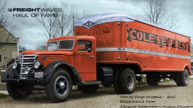 A vintage Cole's Express truck. (Photo: Robert Gabrick)