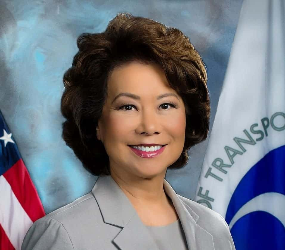 News alert: DOT chief Elaine Chao to ...