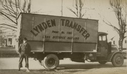 An early Lynden Transfer truck and driver. (Photo: Lynden, Inc.)