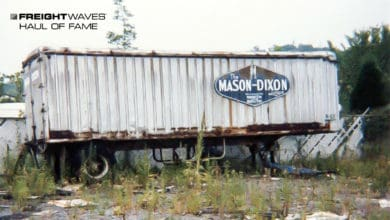 A forlorn Mason and Dixon Truck Lines trailer. (Photo: Stanley Houghton Collection)