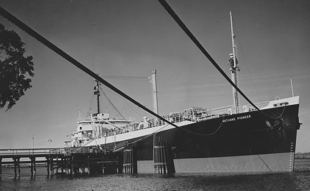 LNG oversea shipments began only 62 years ago.