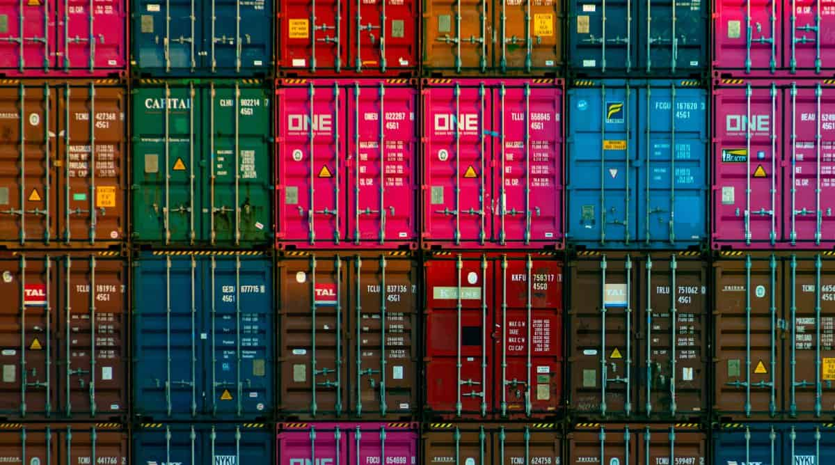 trans-Pacific containers