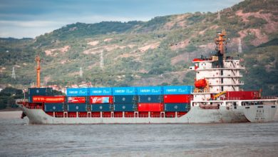 A small container vessel.