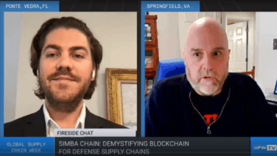 Patrick Duffy and Jeffrey Curtis discuss blockchain for defense supply chain.