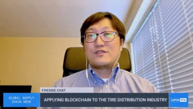 Rak-Joon Choi, a vice president with American Tire Distributors, speaking during a virtual fireside chat, about blockchain technology.
