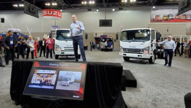 Isuzu's Shaun Skinner speaks at Work Truck Show